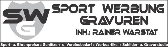 Sport Werbung Gravuren, Rainer Warstat, Dormagen